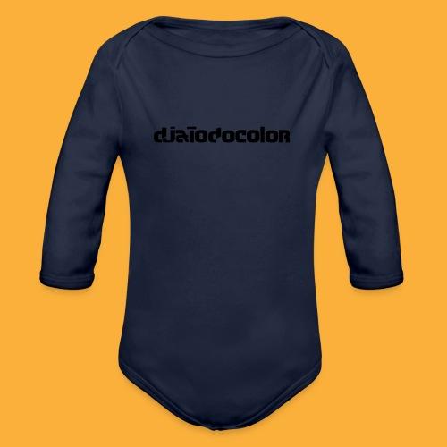DJATODOCOLOR LOGO NEGRO - Body orgánico de manga larga para bebé
