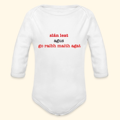 Good bye and thank you - Organic Longsleeve Baby Bodysuit