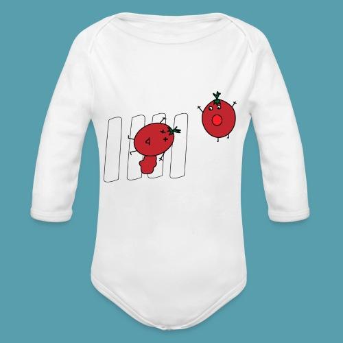tomaatit - Vauvan pitkähihainen luomu-body