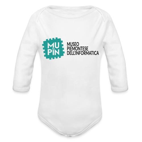 Logo Mupin con scritta - Body ecologico per neonato a manica lunga