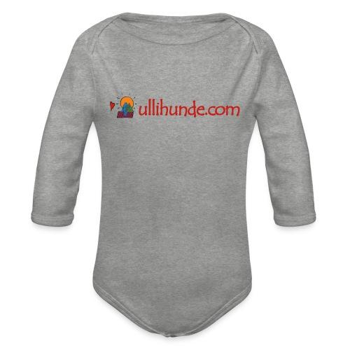 Ullihunde Schriftzug mit Logo - Baby Bio-Langarm-Body