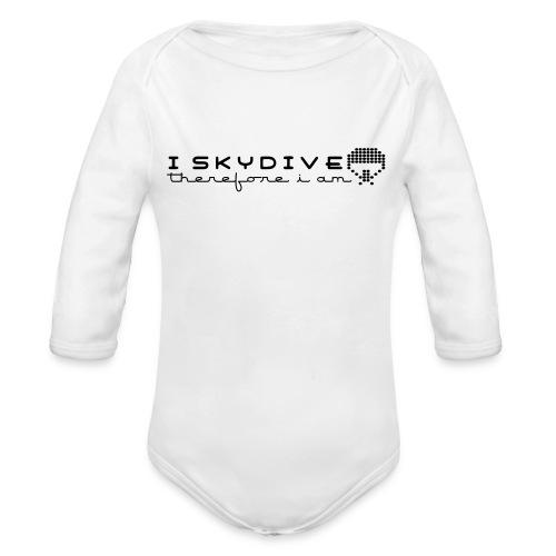 i_skydive_therefore_i_am - Organic Longsleeve Baby Bodysuit