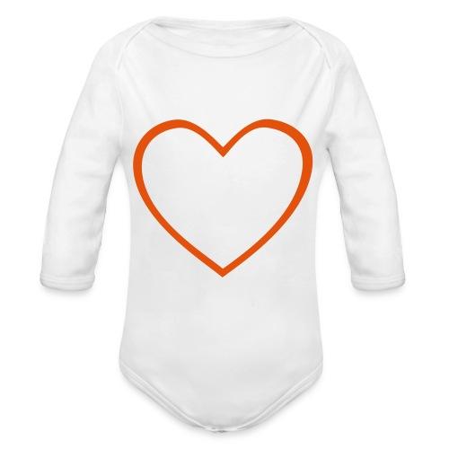 Hjärta 4 - Ekologisk långärmad babybody