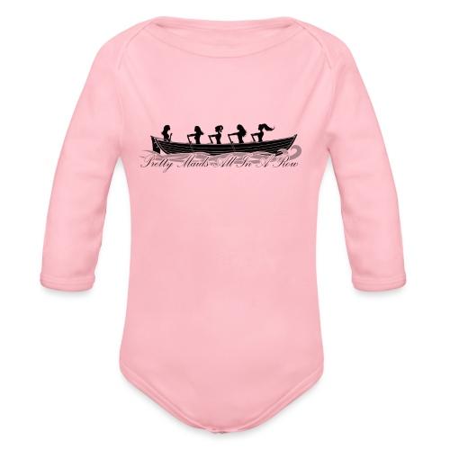 pretty maids all in a row - Organic Longsleeve Baby Bodysuit