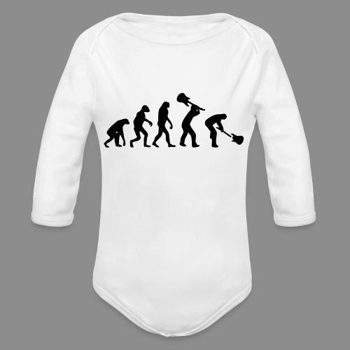 Evolution Rock - Body orgánico de manga larga para bebé