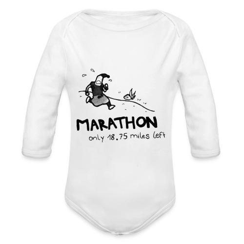 marathon-png - Ekologiczne body niemowlęce z długim rękawem