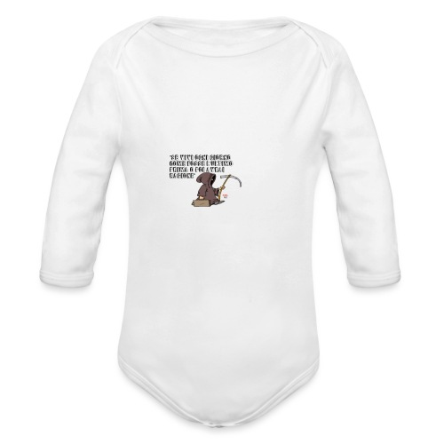 Comicità - Body ecologico per neonato a manica lunga