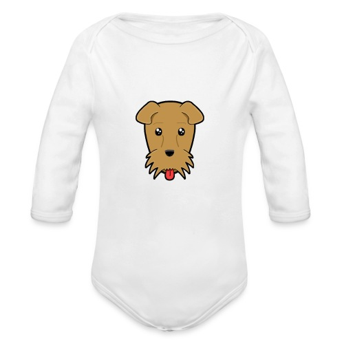 Shari the Airedale Terrier - Organic Longsleeve Baby Bodysuit