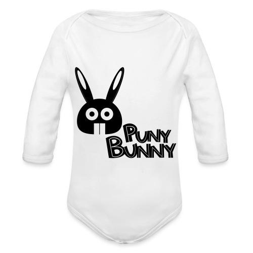 Puny Bunny text - Vauvan pitkähihainen luomu-body
