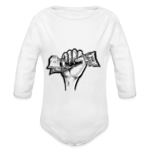 Puño Dolar - Body orgánico de manga larga para bebé