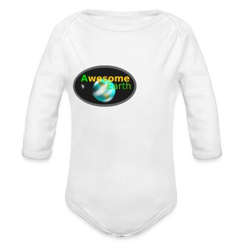 awesome earth - Organic Longsleeve Baby Bodysuit