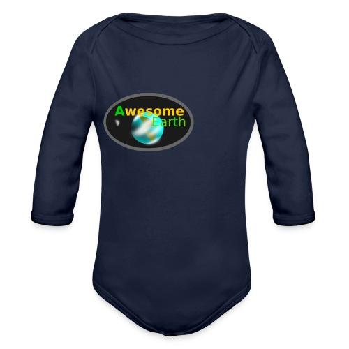 awesome earth - Organic Longsleeve Baby Bodysuit