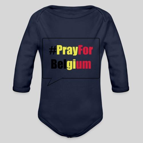 #PrayForBelgium - Body Bébé bio manches longues
