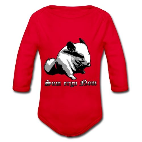 Chinchilla - Sum ergo Nom - Ekologiczne body niemowlęce z długim rękawem