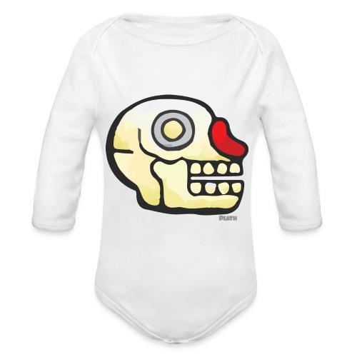 Aztec Icon Death - Organic Longsleeve Baby Bodysuit