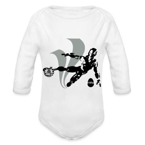 Football Robot - Body ecologico per neonato a manica lunga