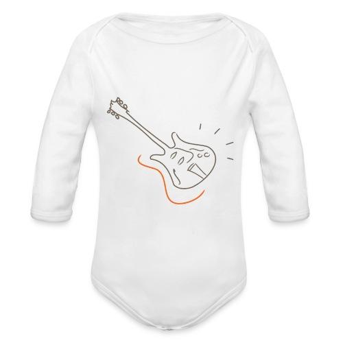 Guitar - Jazz Life Collection - Body ecologico per neonato a manica lunga