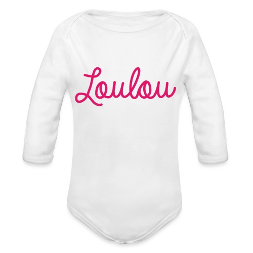 Logo-Roze - Baby bio-rompertje met lange mouwen