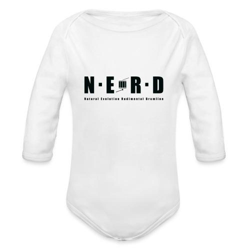 NERD BLACK - Langærmet babybody, økologisk bomuld