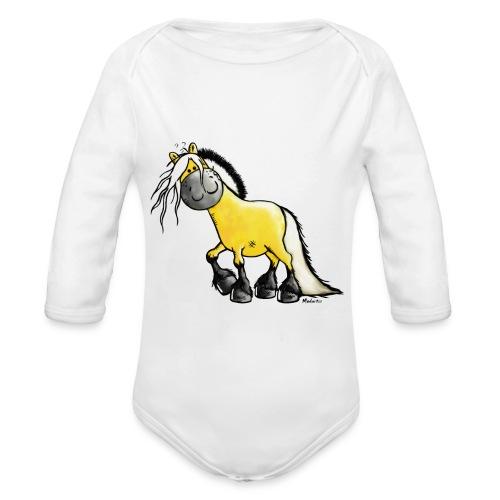 fjord horse - Baby Bio-Langarm-Body