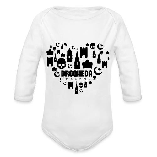 Drogheda Black - Organic Longsleeve Baby Bodysuit