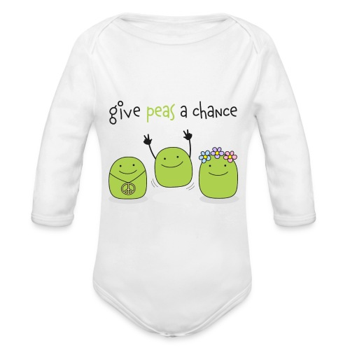 Give peas a chance! - Baby Bio-Langarm-Body