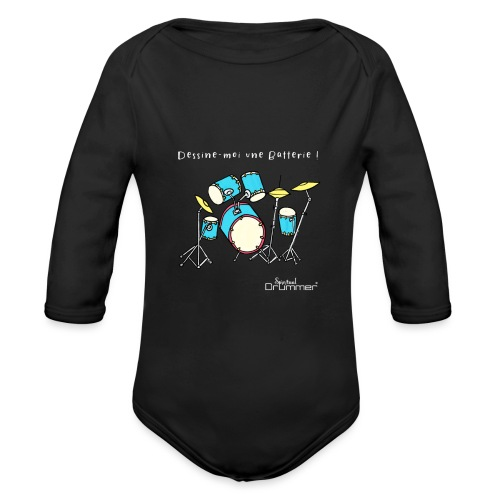Luigi Drum White - Organic Longsleeve Baby Bodysuit