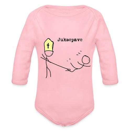 juksepave png - Økologisk langermet baby-body