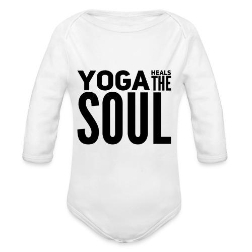 yogalover - Baby bio-rompertje met lange mouwen