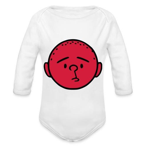 pilkstflcolor - Ekologisk långärmad babybody
