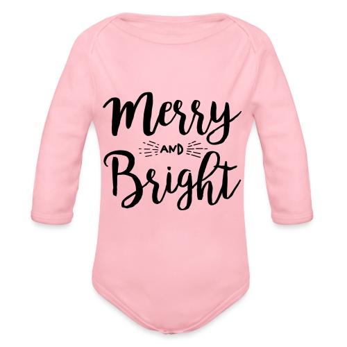 Merry and Bright - Baby Bio-Langarm-Body