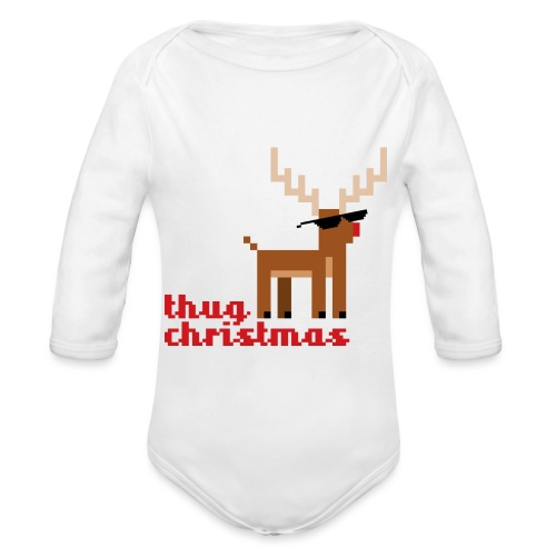 Rudolph the Red Nosed Reindeer Pixel - Organic Longsleeve Baby Bodysuit