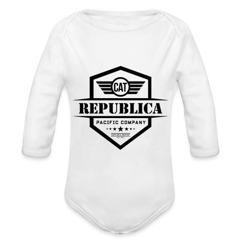 REPUBLICA CATALANA ELEGANT - Body orgánico de manga larga para bebé