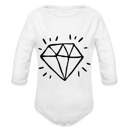 diamant - Body Bébé bio manches longues