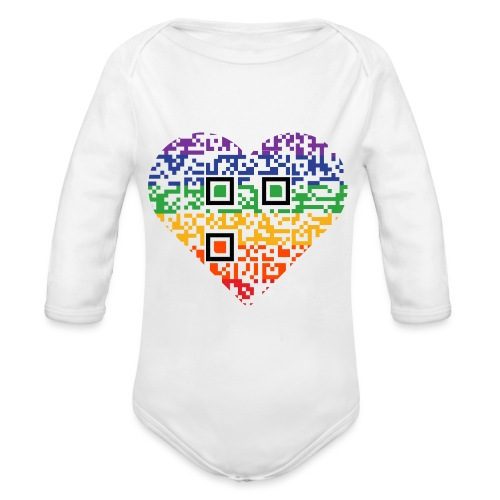 Love is Love | QR-Code | Pride - Baby Bio-Langarm-Body