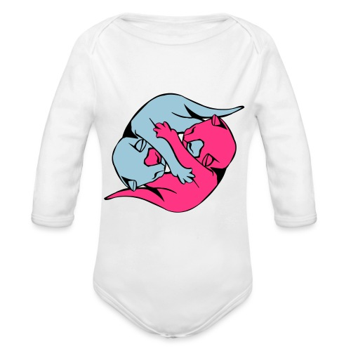 Yin and Yang Kitties - Organic Longsleeve Baby Bodysuit
