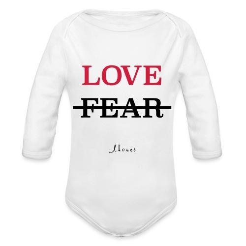LOVE NOT FEAR - Organic Longsleeve Baby Bodysuit