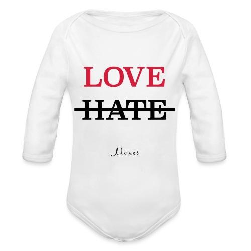 LOVE NOT HATE - Organic Longsleeve Baby Bodysuit