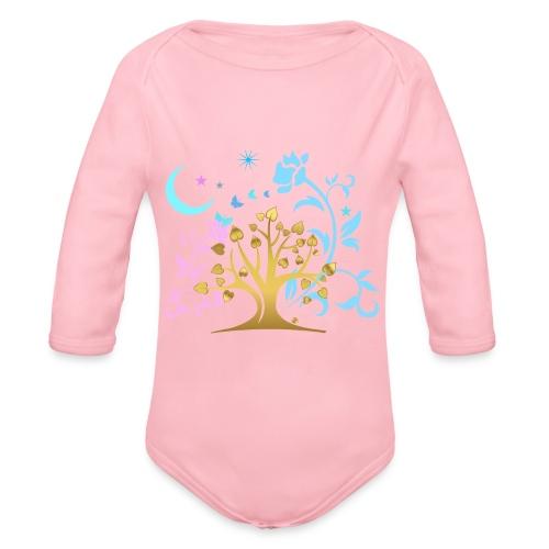 Mystic Tree - Baby Bio-Langarm-Body