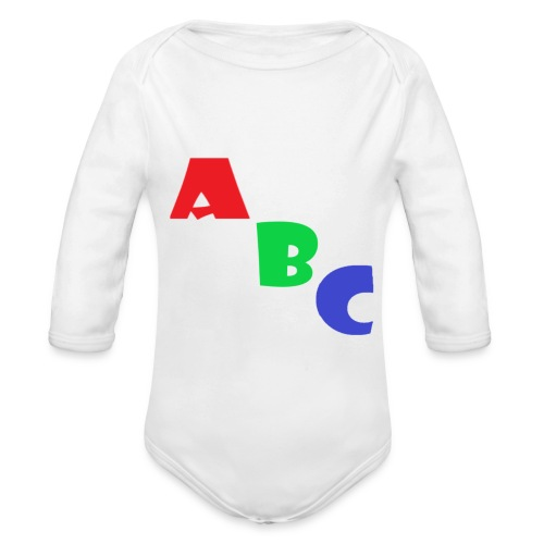 abc - Organic Longsleeve Baby Bodysuit