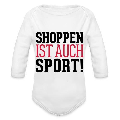 Shoppen ist auch Sport! - Baby Bio-Langarm-Body