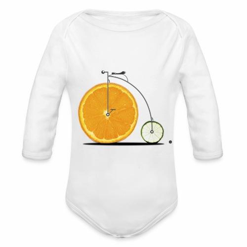 Fruit Bicycle - Organic Longsleeve Baby Bodysuit
