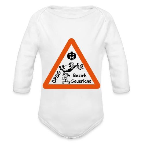 Logo Bezirk Sauerland mit Rahmen - Baby Bio-Langarm-Body