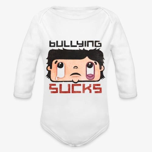 Bullying sucks - Vauvan pitkähihainen luomu-body