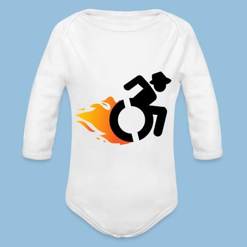 Roller met vlammen 016 - Baby bio-rompertje met lange mouwen