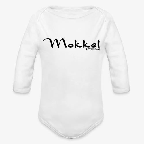 mokkel - Baby bio-rompertje met lange mouwen