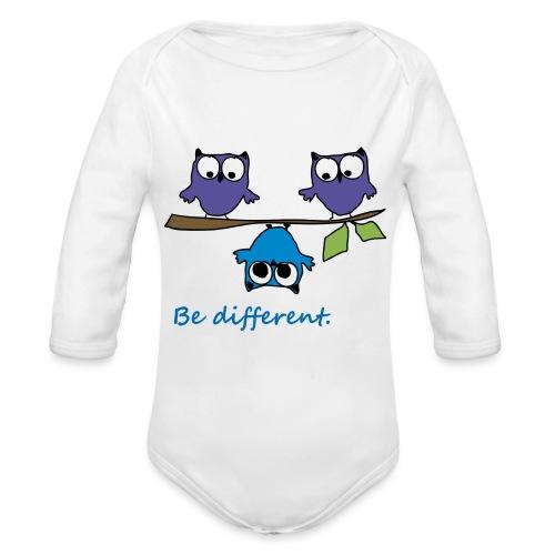 Vogel auf Ast - Be different - Baby Bio-Langarm-Body