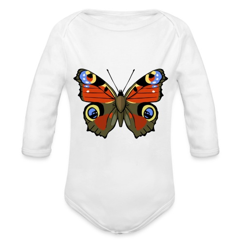 vlinder1_d - Baby bio-rompertje met lange mouwen