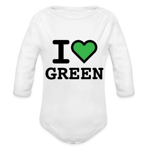 i-love-green-2.png - Body ecologico per neonato a manica lunga
