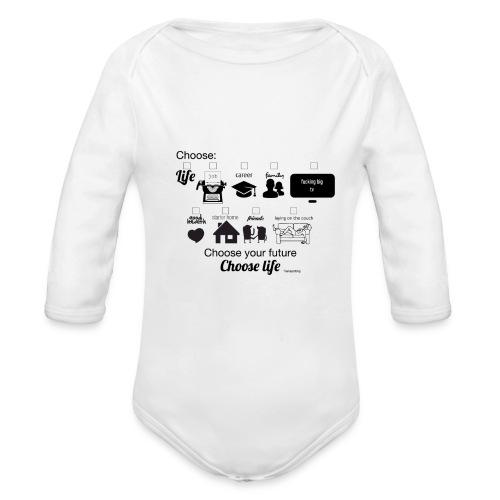 trainspotting - Body orgánico de manga larga para bebé